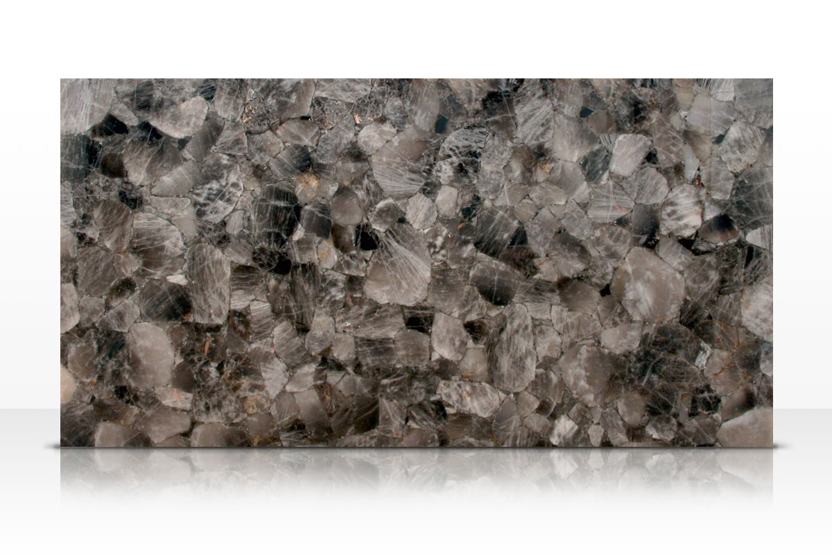 "Stone Slab Quartz Crystal : Smoky quartz ""light"