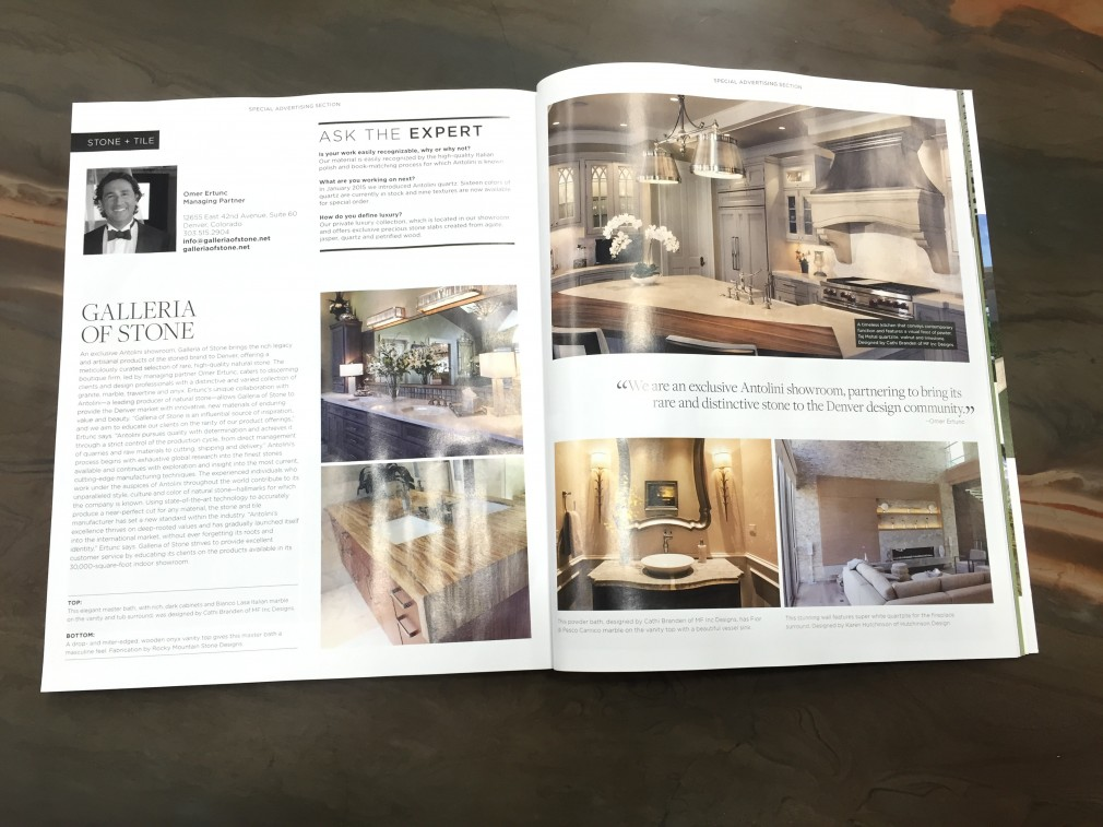 luxe interiors + design summer 2015 magazine spread |