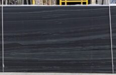 Hematite Black Leathered Marble