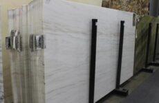 Bianco Lasa Vena Oro-Polished Marble