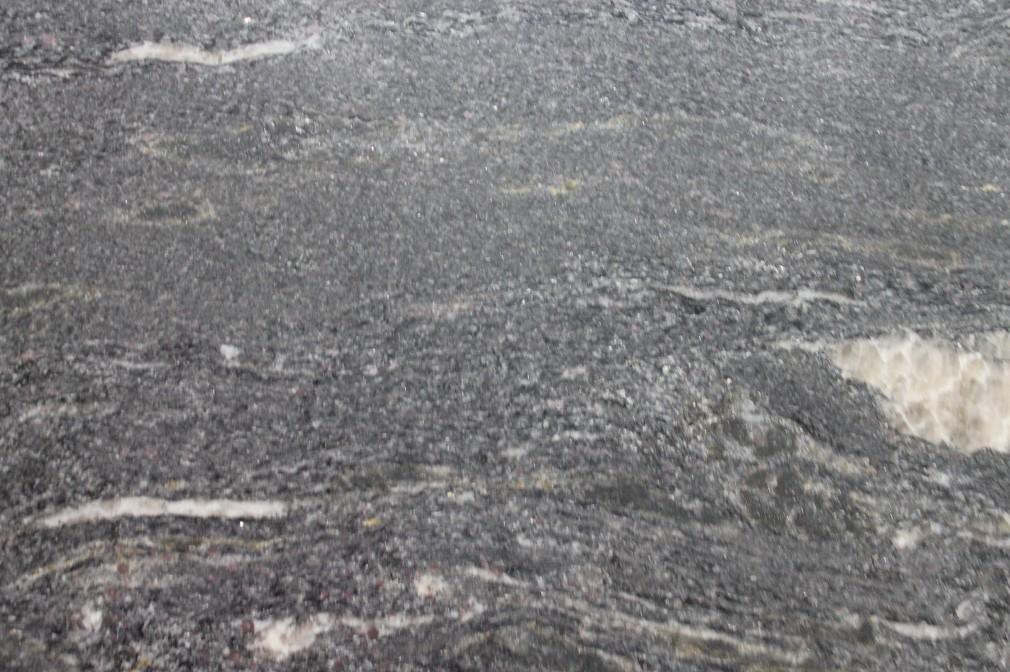 Black Leather Granite : Black cosmic leathered granite